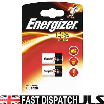 2 ENERGIZER LITHIUM CR2 Photo Batteries DLCR2  Exp 2024