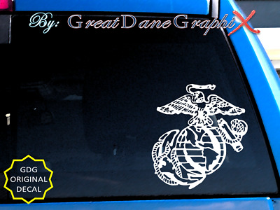 Marine Corps Emblem #1 Vinyl Car Decal Sticker / Choose Color - HIGH QUALITY