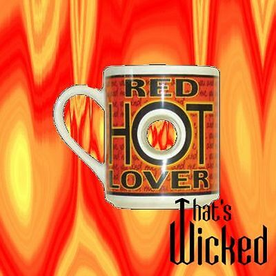 RED HOT LOVER COFFEE MUG..new & boxed