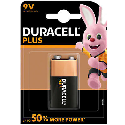 Duracell Plus 9V Battery MN1604 6LR61 PP3  smoke alarm