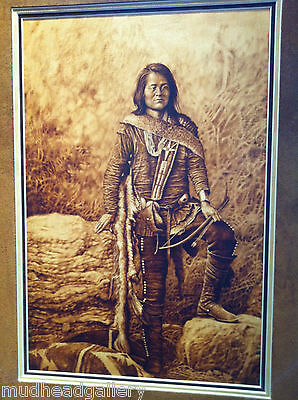 """""""Indian Scout""""  Navajo Painting Marvin Toddy"""