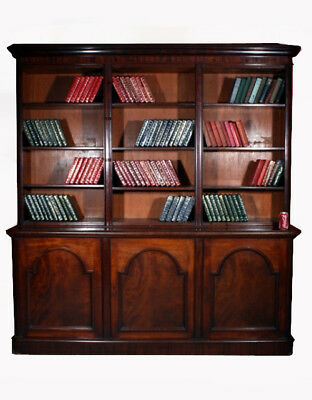 Antique Victorian Mahogany Open Bookcase c.1850