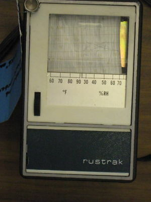 Rustrak Temperature And Humidity Strip Chart Recorder