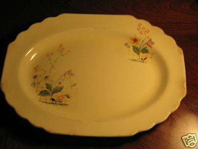 W. S. George Canarytone Made in USA Numbered Platter