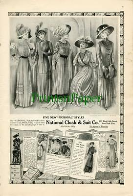 1910 Victorian National Cloak & Suit Style Book Ad
