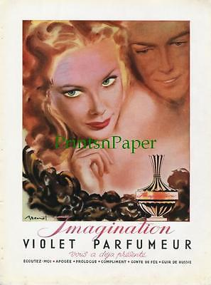 1946 Imagination Violet Parfumeur French Perfume Ad