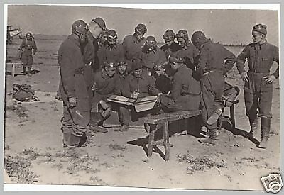 WW 2 Russian military photo of pilots on the airfield