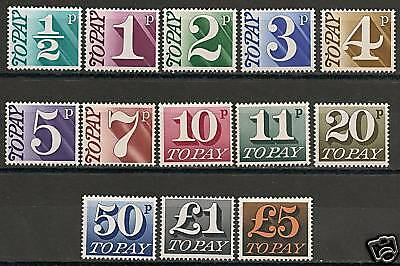 Great Britain 1968 SG Due D77-D89  MNH  VF