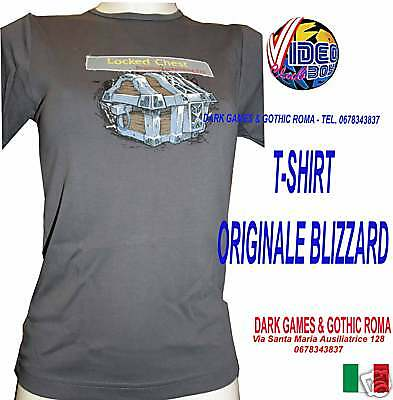 T-SHIRT WoW LOCKED CHEST ORIG. BLIZZARD TAGLIA M DONNA