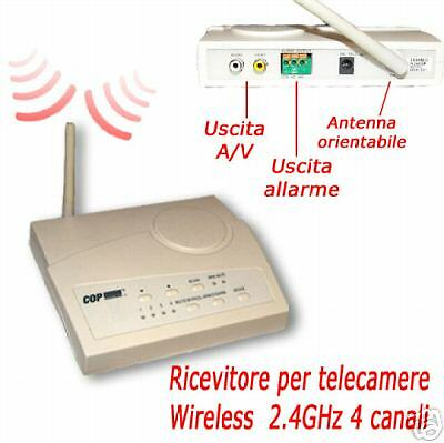 ricevitore wireless per telecamere switch con 4 ingressi 2,4ghz item 15-2400sr