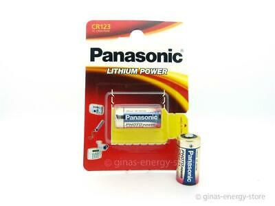 6 PANASONIC CR123A Lithiumbatterie CR123 CR 123 123A