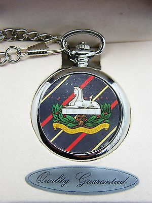 The Gloucestershire Regiment Badge Pocket Watch Free Keyring Army Military Gift