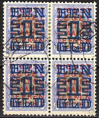 Netherlands 1923 NVPH 133 in bloc of 4 CANC VF
