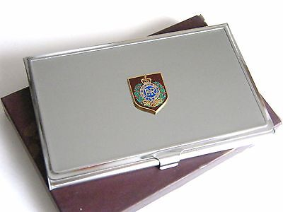 THE ROYAL ENGINEERS SAPPER PRIVATE BADGE ARMY CHROME PLATED TOBACCO TIN MILITARY