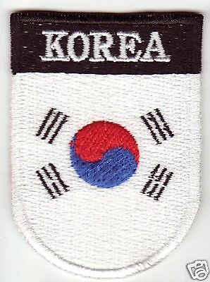 KOREA Country Flag Patch Shield Style South Korean