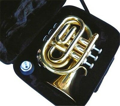 Brand New  Brass Pocket Trumpet W/case.warranty.