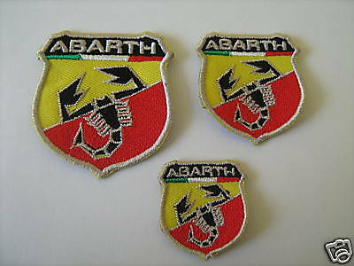 Abarth N.3 Toppe Patch Ricamate Termoadesive