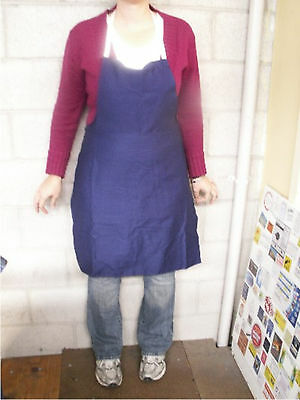 Navy Blue Kitchen Aprons  white strap and ties BULK LOT