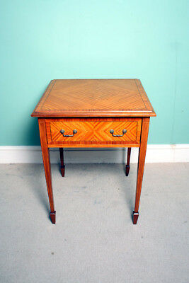 Antique Edwardian Satinwood Occasional Table c.1900