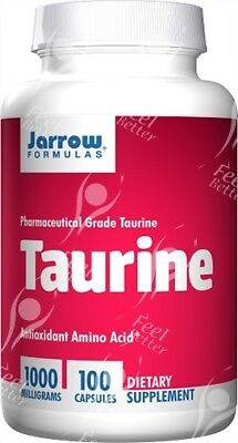 Pure Pharmaceutical L-Taurine, 1000mg x100caps;- CRAZYVALUE!