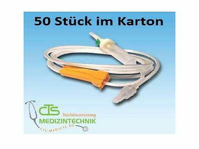 Infusionssystem Infusionsbesteck 50er Pack Infusion Infusion Leitung Sparpack 50