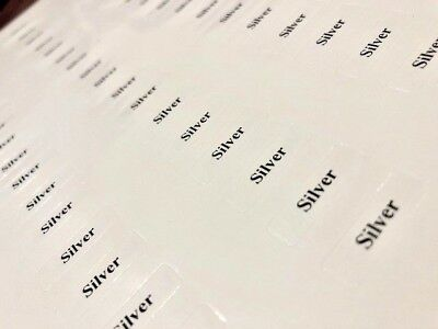 'Silver' Tickets for Jewellery Displays (Self-Adhesive)