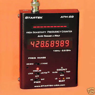 New -  Startek Ath-60 Frequency Counter  -  Rf Detector