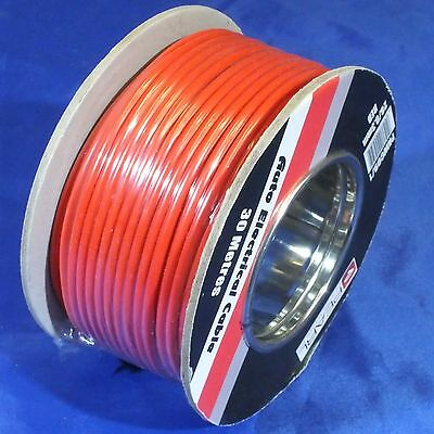 RED 28/0.3 AUTO CABLE / WIRE 30M REEL PVC  SINGLE CORE 17.5A  2.00mm Automotive