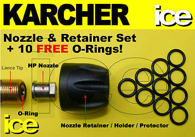 Karcher Hd Hds Nozzle Retainer Protector Cap O-Rings 70 580 650 601 795 895 995