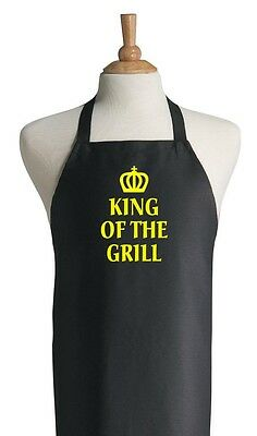 Black Grilling Aprons For Men King Of The Grill Barbecue Apron For Dad