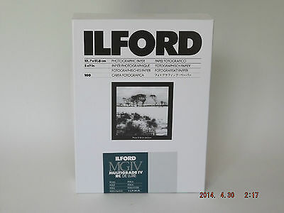 Ilford Mgiv Rc Deluxe 5X7 Pearl 100 Darkroom Paper