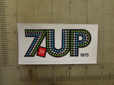 """Vintage 7-UP 7up 1975 sticker decal 4.1""""x2"""""""