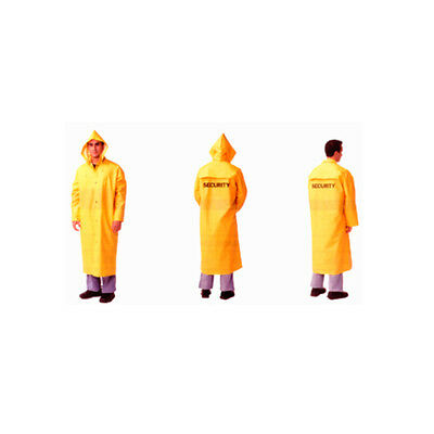 Security Guard Long Raincoat Rain Coat Poncho Jacket