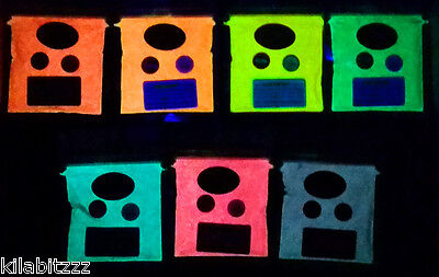 Glow in the Dark +UV Reactive Pigment Powder 25g ALL 7 Colours