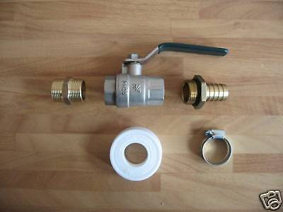 3/4 Inch BSP Water / Oil / Fuel Tank Valve / Tap Kit