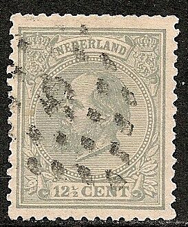 Netherlands 1872 NVPH 22K P.12 1/2 small holes  CANC