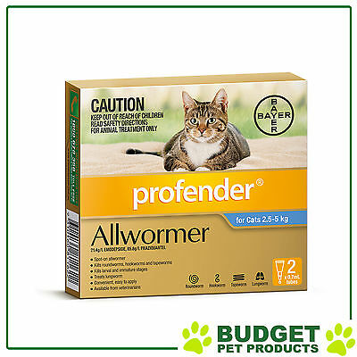 Profender Cats All Wormer 2.5-5kg 2 pack