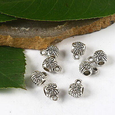 40pcs Tibetan silver flower spacer beads h2551