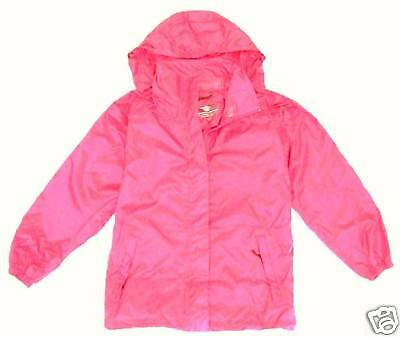 GIRLS 9-10 years WATERPROOF BREATHABLE JACKET lush pink windproof coat anorak