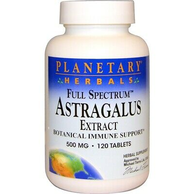 Astragalus 500mg x120tabs - with HIGH CONTENT BETA GLUCAN