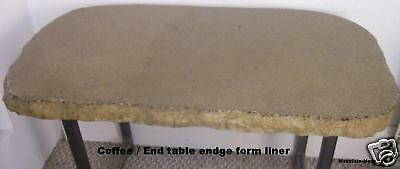 Concrete Split Granite Coffee / End table Edge Form 2""