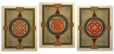 Three Celtic Knot Design Art Prints