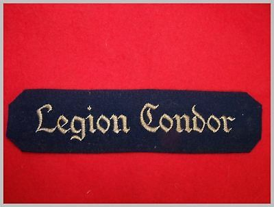 WW2 German Condor cufftitle, original. Cutted.