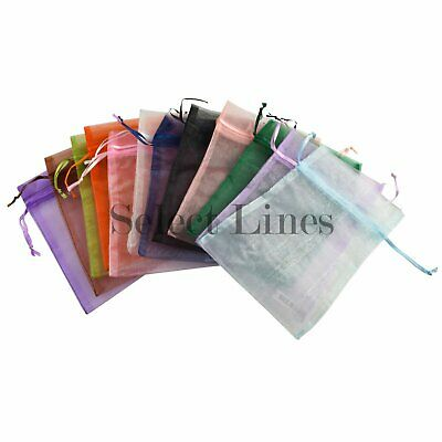 """Organza Drawstring Pouches Assorted Mixed Color 5"""" x 6"""""""