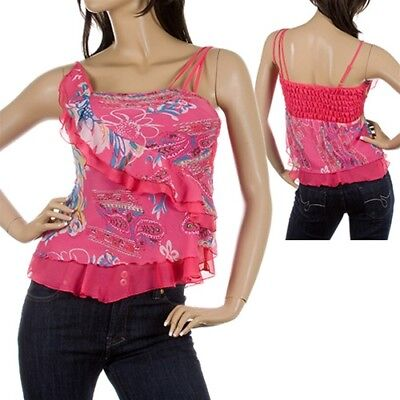 R18 Lady's Cute Pink Top with Ruffles L/Large (8/10)