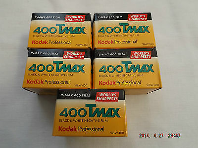 Kodak TMAX 400 B+W 35mm Film 36exp (5 Pack) ***Best****