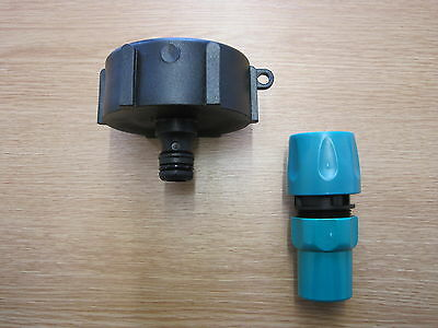 IBC Hoselock Fitting for IBC Outlet Tap, Garden Hose