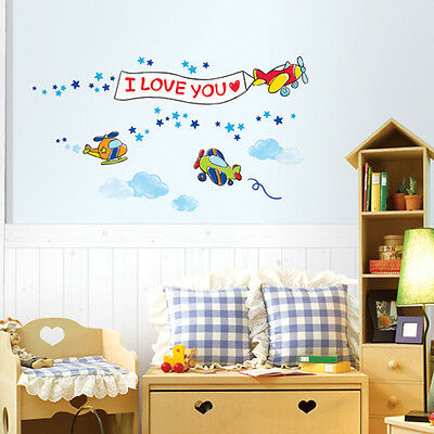 Wds 03 flower garden mural art wall paper sticker kids for Aviation wall mural