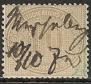 Reich 1872 MI 12 pencancelled signed  VF