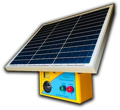20km S150 SOLAR Powered Electric Fence ENERGISER- Thunderbird RRP $615.00